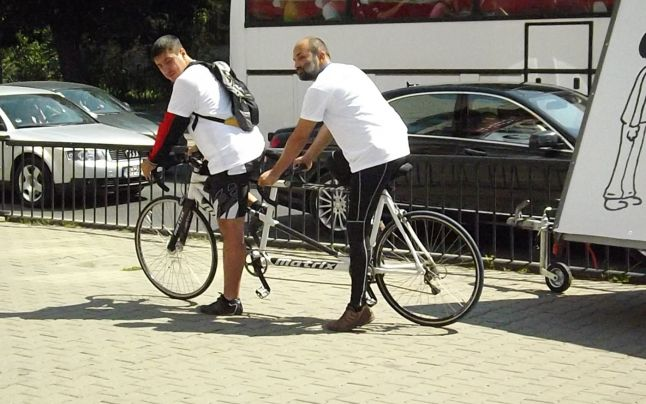 Florin Georgescu, al doilea pe bicicleta Tandem